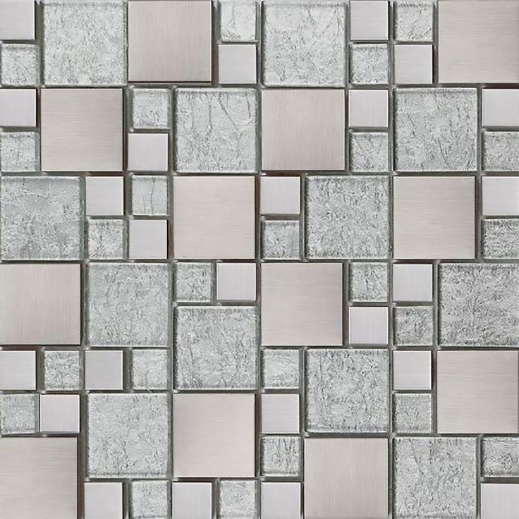 Silver Tile Stickers Transfers Kitchen Bathroom Tiles