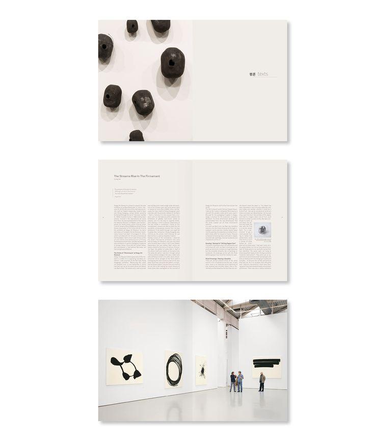 Miserezdesign /// Design print et web /// Branding   Mise en page du livre d'artiste coréen Lee Bae.