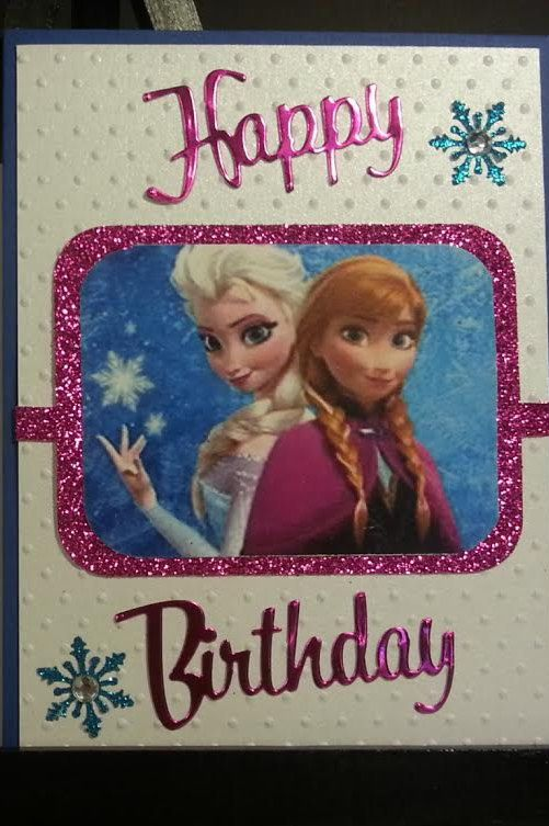 Frozen Birthday Card by LGArtCardsnCreations on Etsy