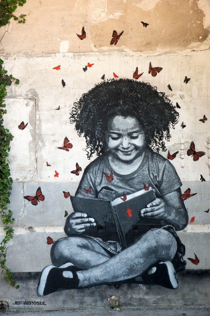 Street Art by Jef Aerosol, Fort d'Aubervilliers, France
