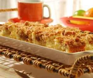 Receita de Cuca de maçã - Show de Receitas