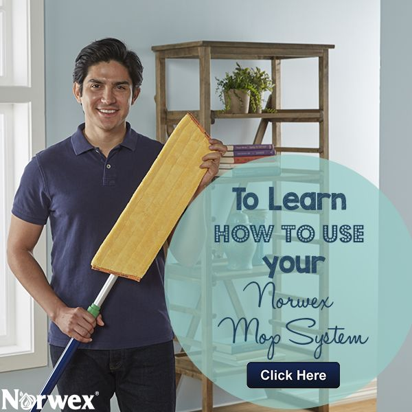 The Norwex Mop is perfect for a variety of floor surfaces, windows, walls and ceilings, and all you need is water!