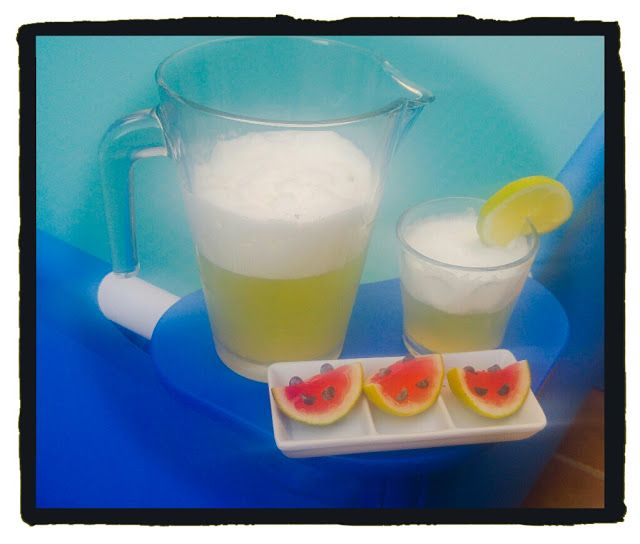 Sorbete de lima y watermelon jello shots
