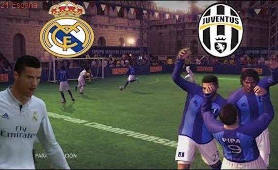 FINAL DE LA CHAMPIONS - REAL MADRID VS JUVENTUS - FUTBOL SALA - FIFA STREET #futboljuventus