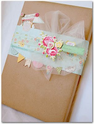 sweet shabby wrapping ~ too cute
