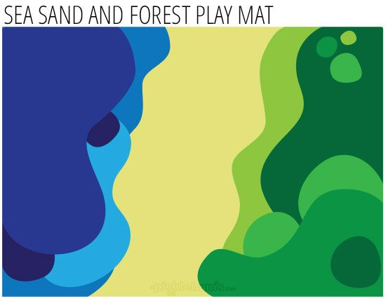 free printable imaginative play mat - Sea Sand and Forest.  Or make a similar idea from felt?