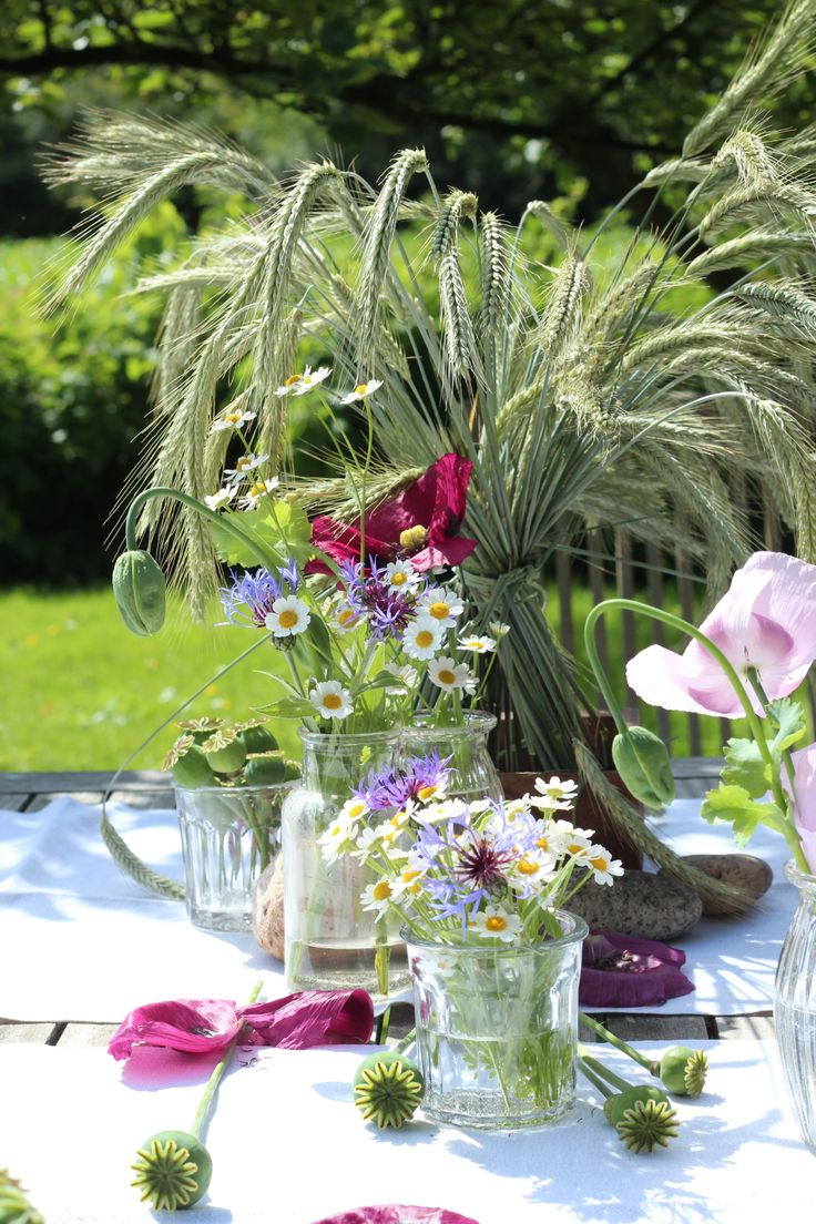 Deko Tipp Getreide Und Gartenblumen