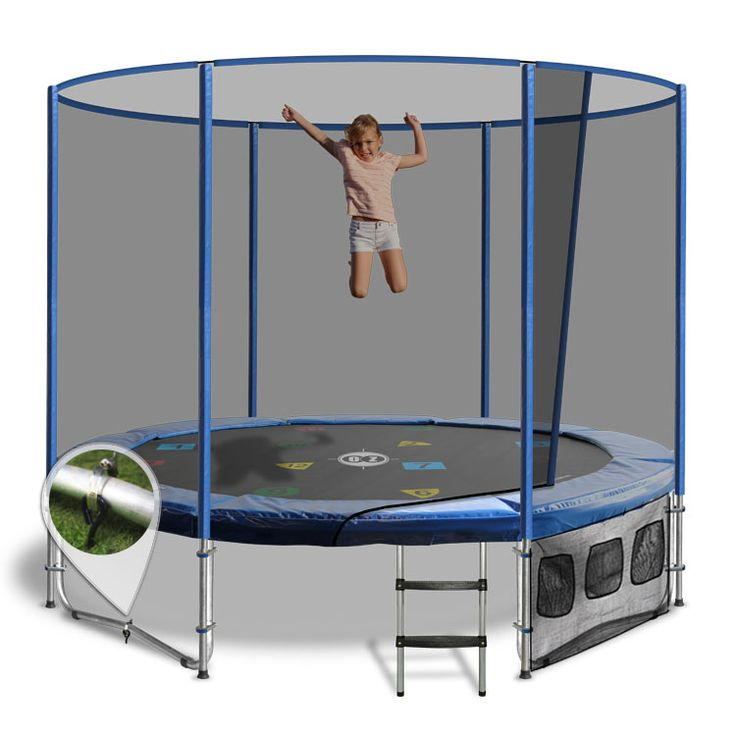 8ft Trampoline - Above Ground with Enclosure by Oz Trampolines