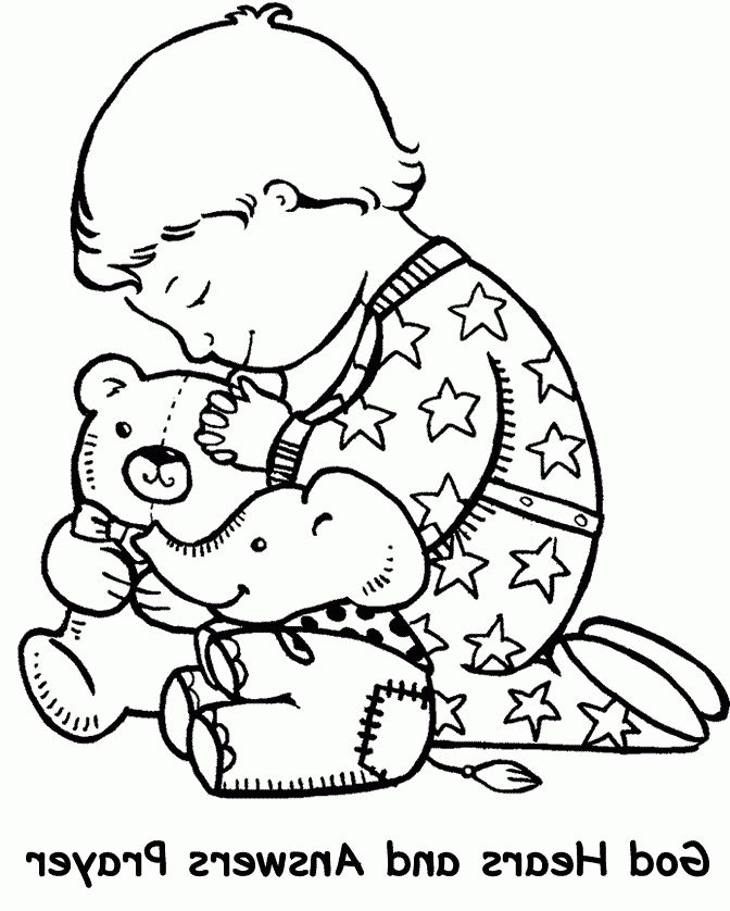 Prayer Coloring Page Coloring Pages Sunday School Coloring