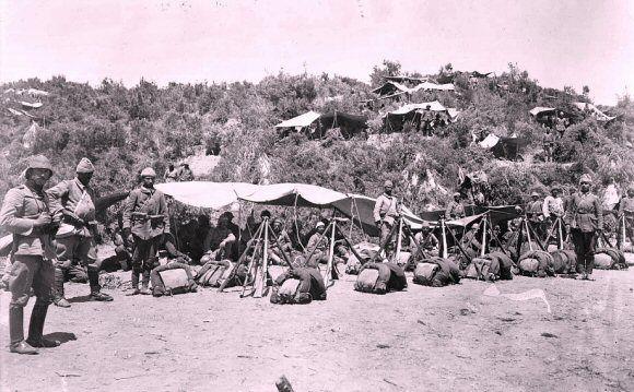 soldats turcs à gallipoli campagne de 1915.