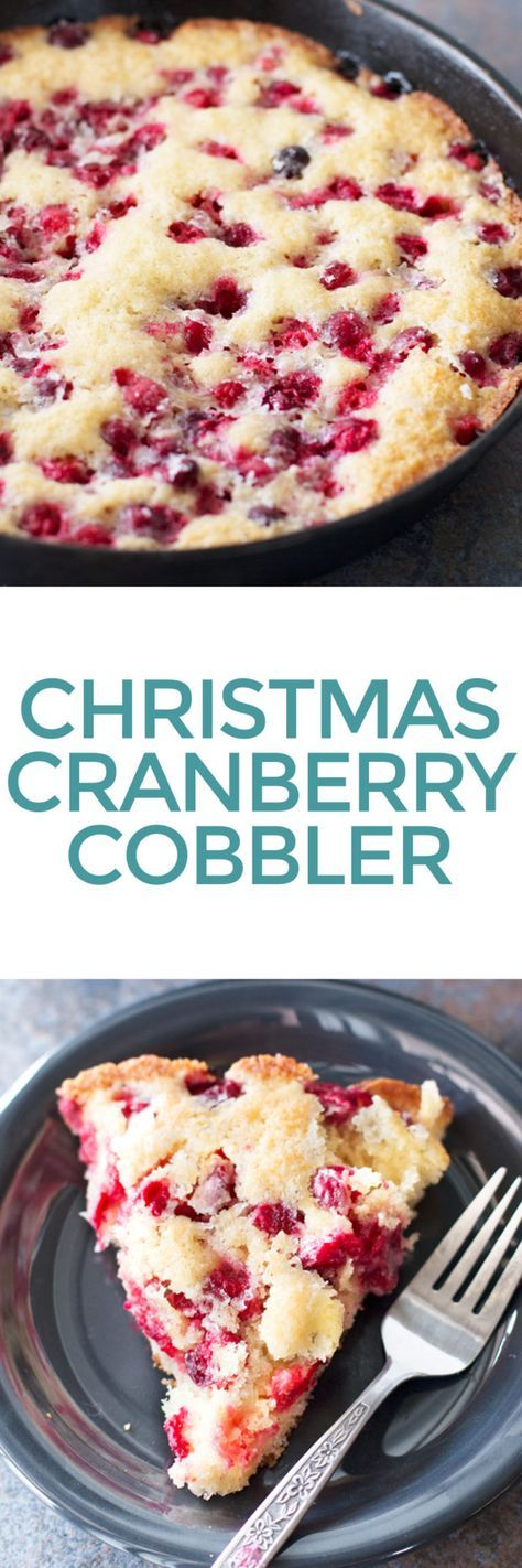 Christmas Cranberry Cobbler. Worked super well! Substituted the egg for apple butter and the whole milk for heavy whipping cream. Smells great! And it's very pretty.