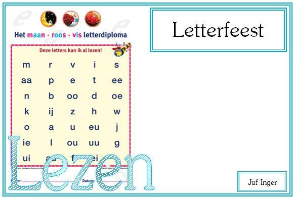 Letterfeest - Juf Inger