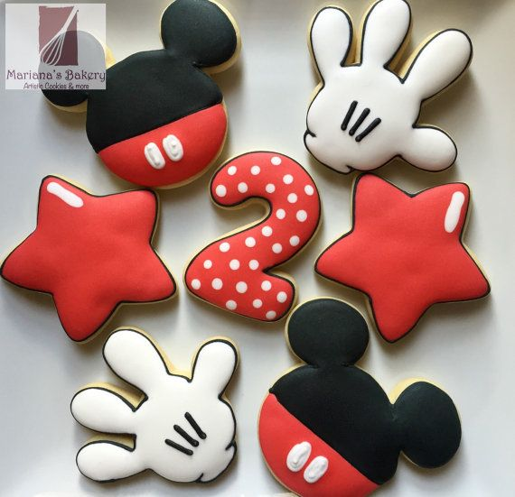 Mickey Mouse sugar cookies on Etsy, $35.00