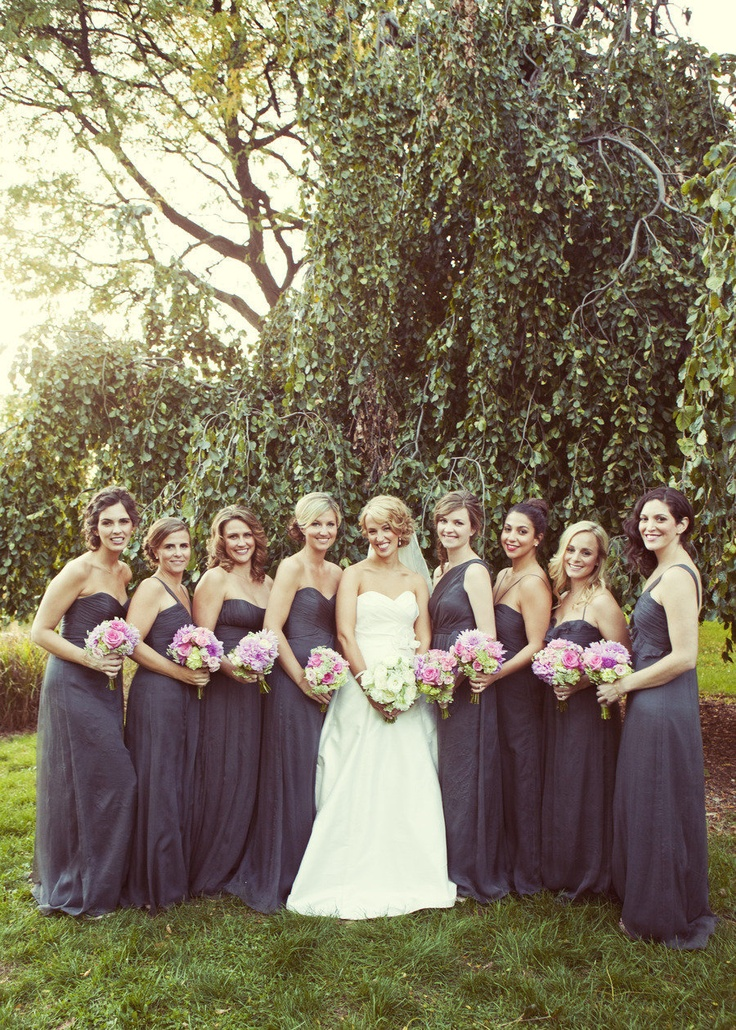 142 best images about gray wedding colors on pinterest for Charcoal dresses for weddings