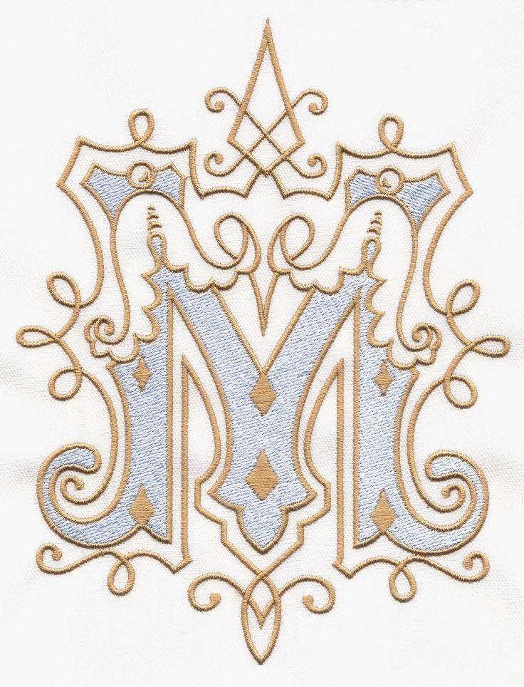 Best 25+ Vintage monogram ideas on Pinterest   Embroidery ...