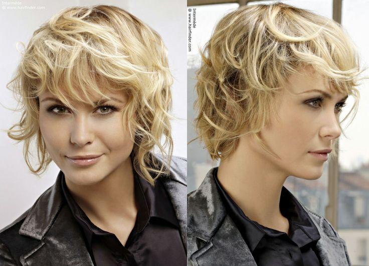 cute short curly hair