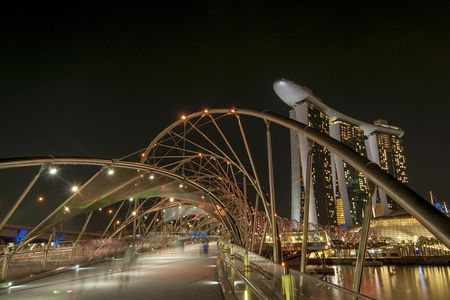 The Helix Bridge, Singapore Photo by Rogel Tura -- National Geographic Your Shot
