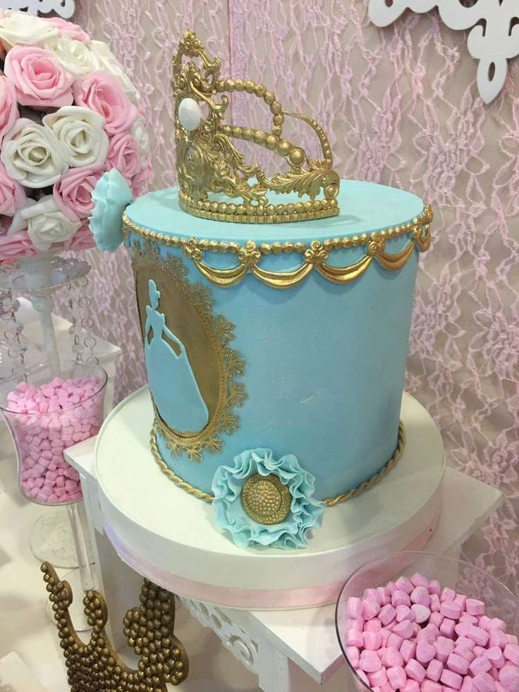 Incredible cake at a Cinderella princess birthday party! See more party ideas at CatchMyParty.com!
