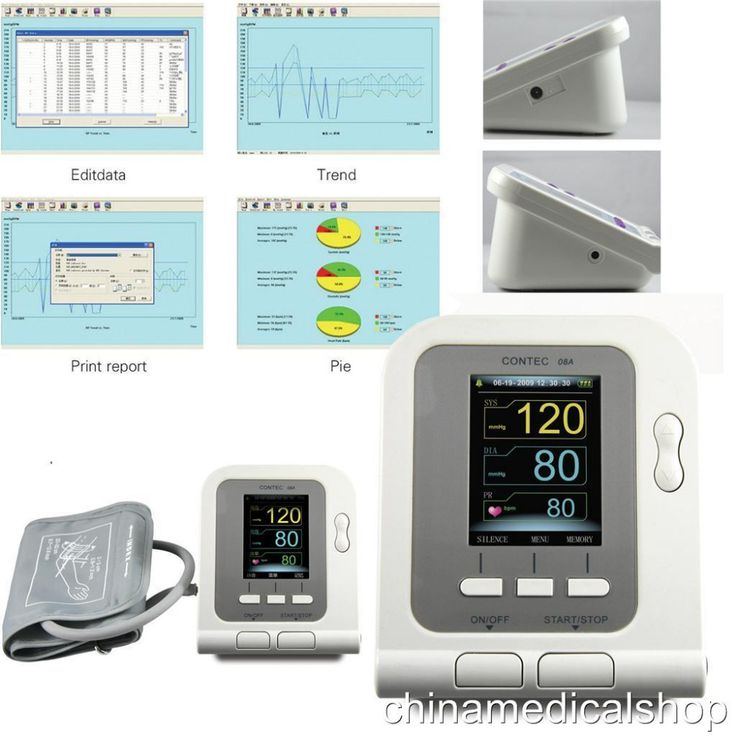 CE FDA Digital Blood Pressure Monitor CONTEC08A Color LCD Display 4 free cuff Software PC. Click visit to buy