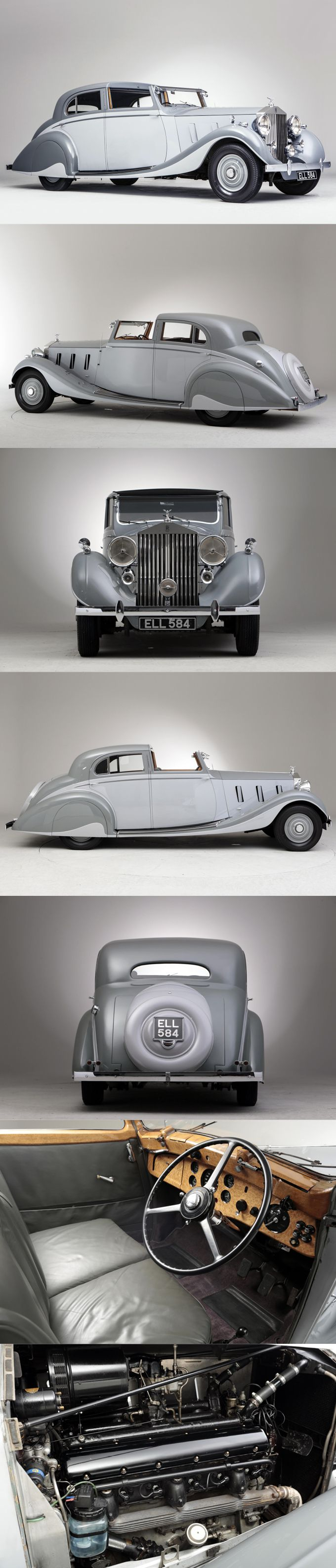 1937 Rolls-Royce Phantom III Gurney Nutting Sports Sedanca de Ville / UK / grey silver