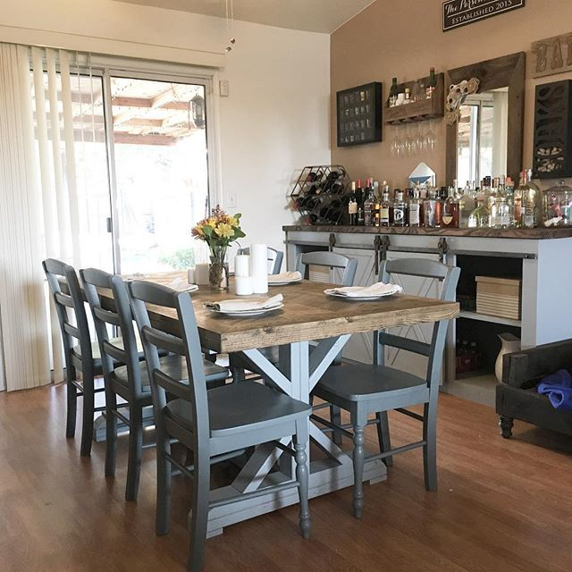 Grandy console and farmhouse table  #saraparsonsthe2nd