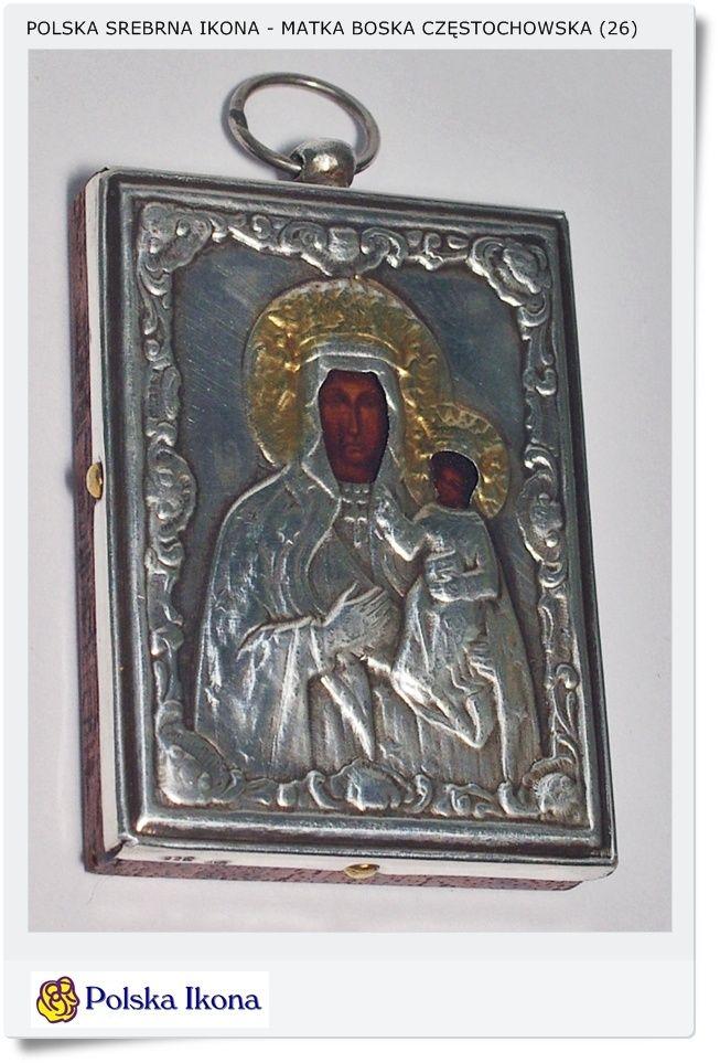 Matka Boska Częstochowska Srebrna ikona (26)