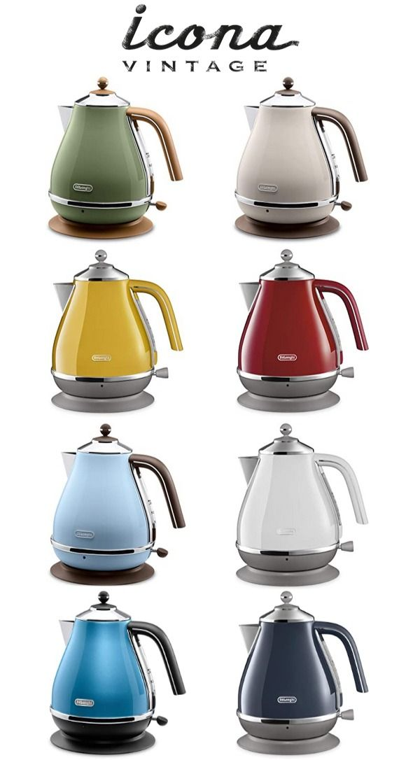 Delonghi Icona Vintage Collection Electric Kettle In 2020 Vintage Tea Kettle Electric Kettle Kettle And Toaster Set