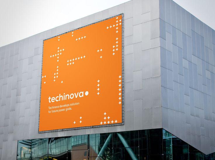 Grafisk profil till Techinova. Skylt.