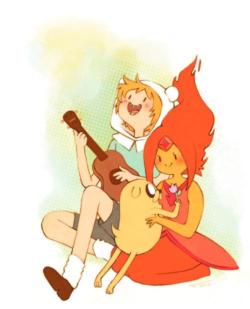 Finn, Jake, and Flame Princess