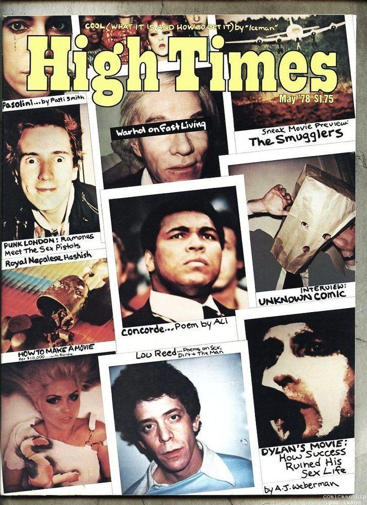 High Times 331978 Andy Warhol Bob Dylan Punk Ramones