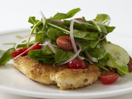 Crispy Chicken Paillard with Arugula Salad & Lemony Vinaigrette