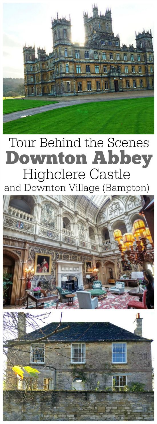 A behind-the-scenes tour of the places where Downton Abbey is filmed: Highclere Castle and the small town of Bampton in London, England.