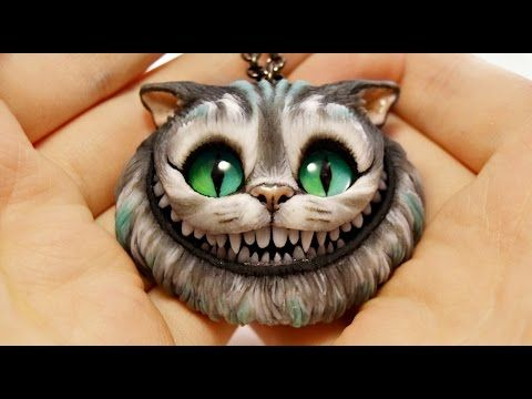Polymer clay tutorial - Cheshire Cat - Part 1 - OMG, in part 2 she puts in the teeth...we are not taking polymer clay seriously enough!  This gal is amazing.