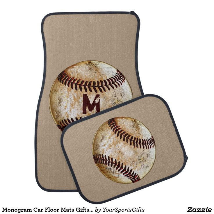 Monogrammed Baseball Car Floor Mats Gifts for Baseball Lovers CLICK: http://www.zazzle.com/monogram_car_floor_mats_gifts_for_baseball_lovers_car_mat-256261829775411491?rf=238012603407381242  Cool Vintage Baseball Gifts for Coaches and fantastic Monogrammed Car Mats for Baseball Lovers and Fans. More HERE: http://www.Zazzle.com/YourSportsGifts/Products CALL for HELP or CHANGES: 239-949-9090