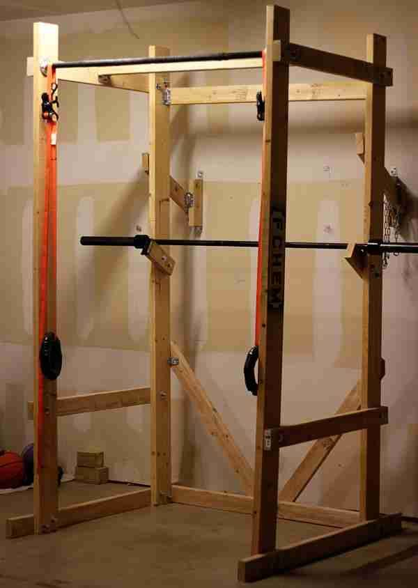 17 best images about home gym on pinterest diy pull up for Squat station
