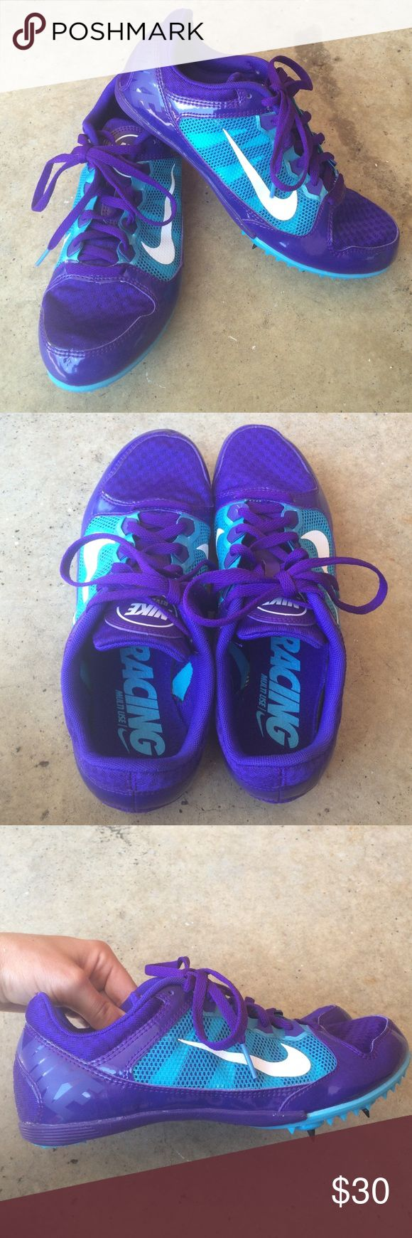BRAND NEW! Nike spikes Just in time for back to school! Perfect for those girls and daughters who run track. Brand new never worn Nike track and field spike cleats. Originally $100 women's size 9. Nike Shoes Athletic Shoes