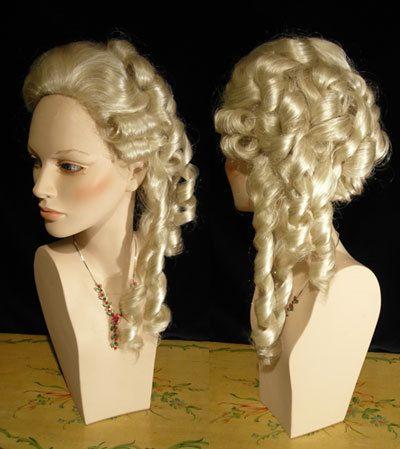 White Women Wig 1700 Style - Dama wig01