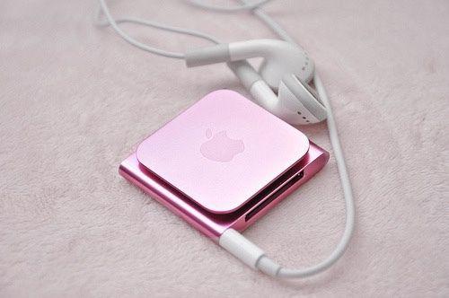 grafika pink, apple, and music
