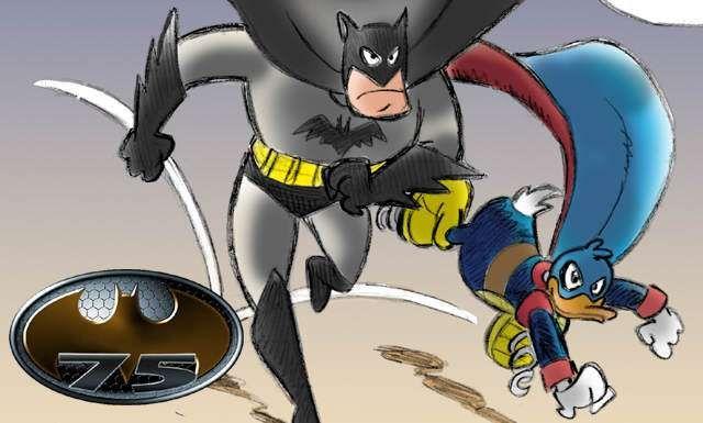 Speciale Batman 75: Marco Gervasio tra Fantomius e il Cavaliere oscuro - Abbiamo chiesto ad alcuni fumettisti di regalarci la loro interpretazione del Cavaliere Oscuro: questo è l'omaggio di Marco Gervasio  - http://www.lospaziobianco.it/130454-speciale-batman-75-marco-gervasio-fantomius-cavaliere-oscuro #fumetti #illustrazione #comics