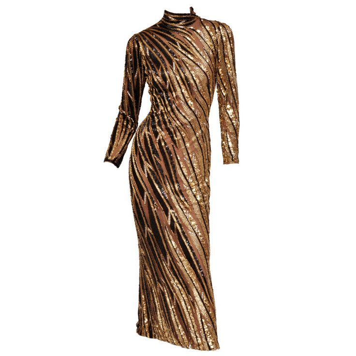 Bob Mackie Beaded Gown   From a collection of rare vintage evening dresses at https://www.1stdibs.com/fashion/clothing/evening-dresses/