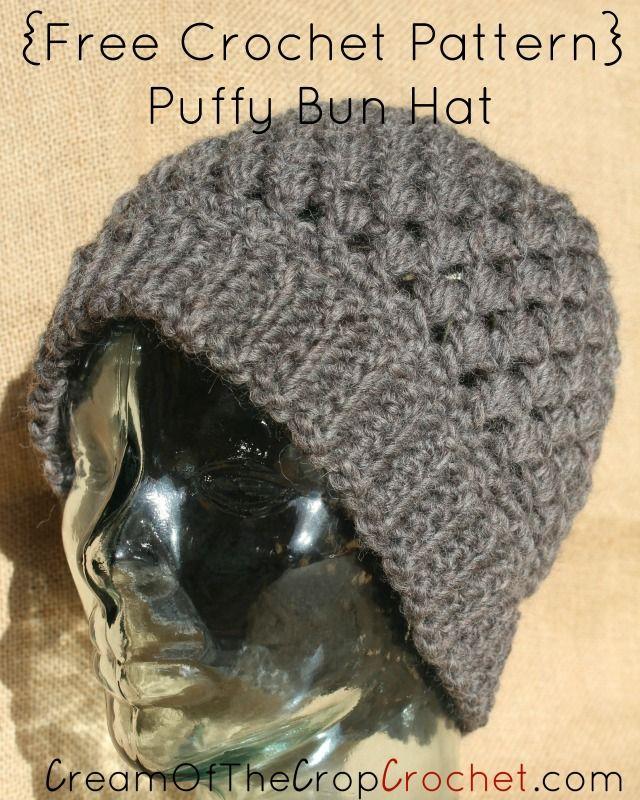 Puffy Bun Hat Pattern