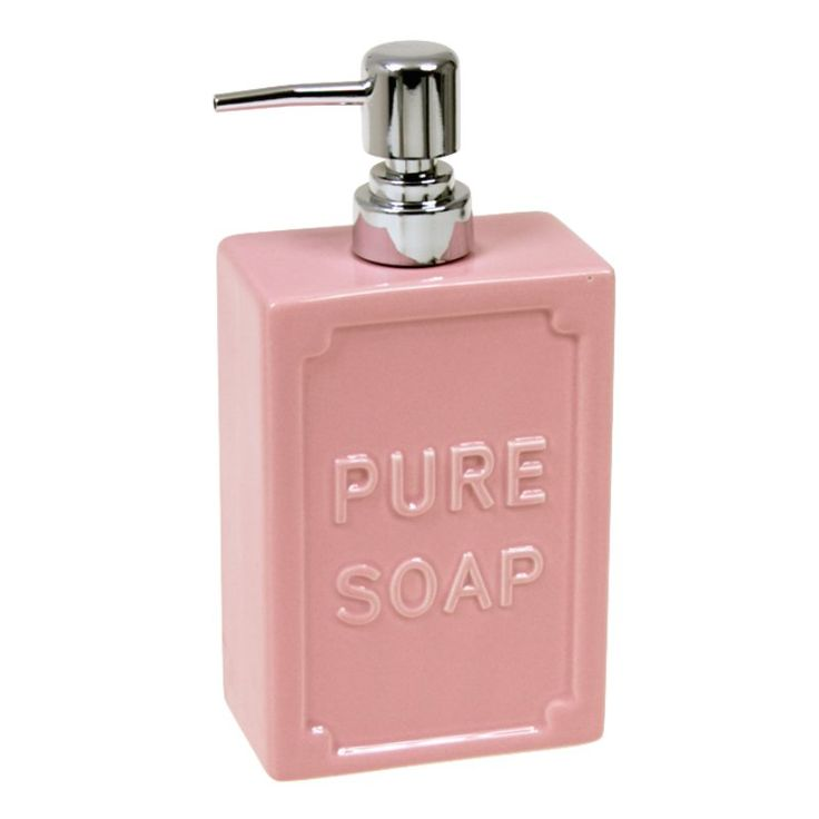 PURE SOAP - pastelowy różowy dozownik do mydła w płynie - NieMaJakwDomu