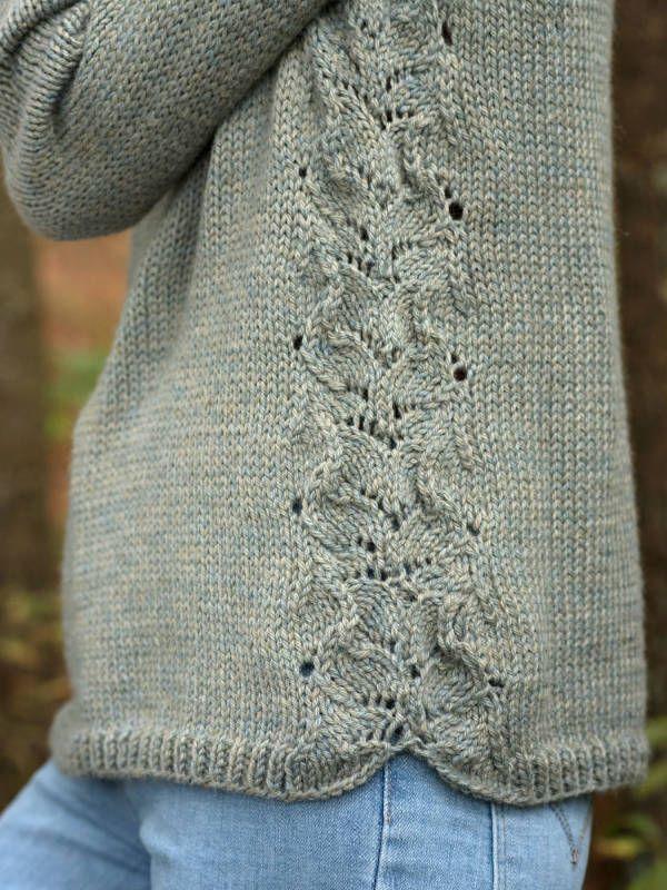 Brunnen Raglan Damen Sweater Free Knitting Pattern #knittingpatterns