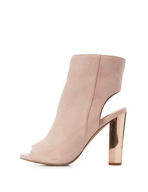 d55570a84d1 Wide Width Metallic Heel Ankle Booties