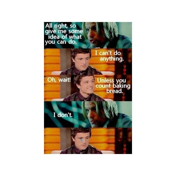 Hunger Games humor Hunger Games Fandom ❤ liked on Polyvore featuring hunger games, funny, quotes and the hunger games