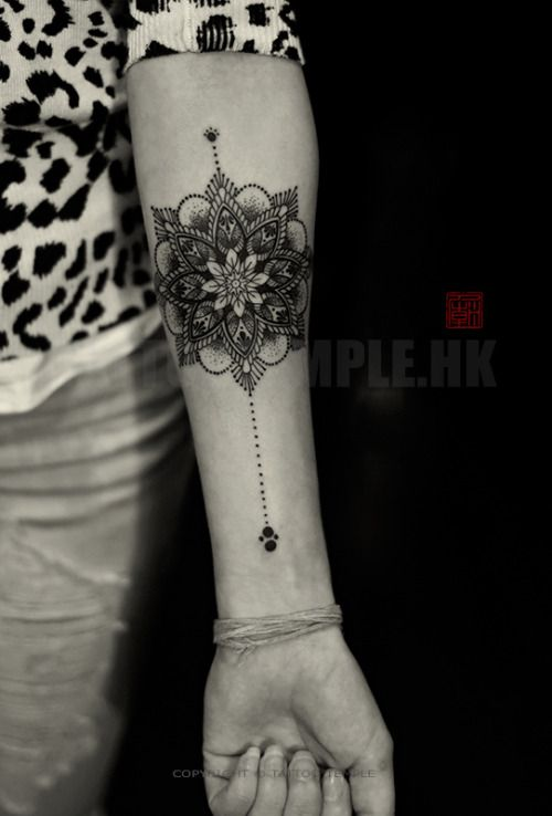 NECK MAYBE???? Fine Line & Dotwork Mandala - artwork and tattoo by Elizabeth - www.tattootemple.hk