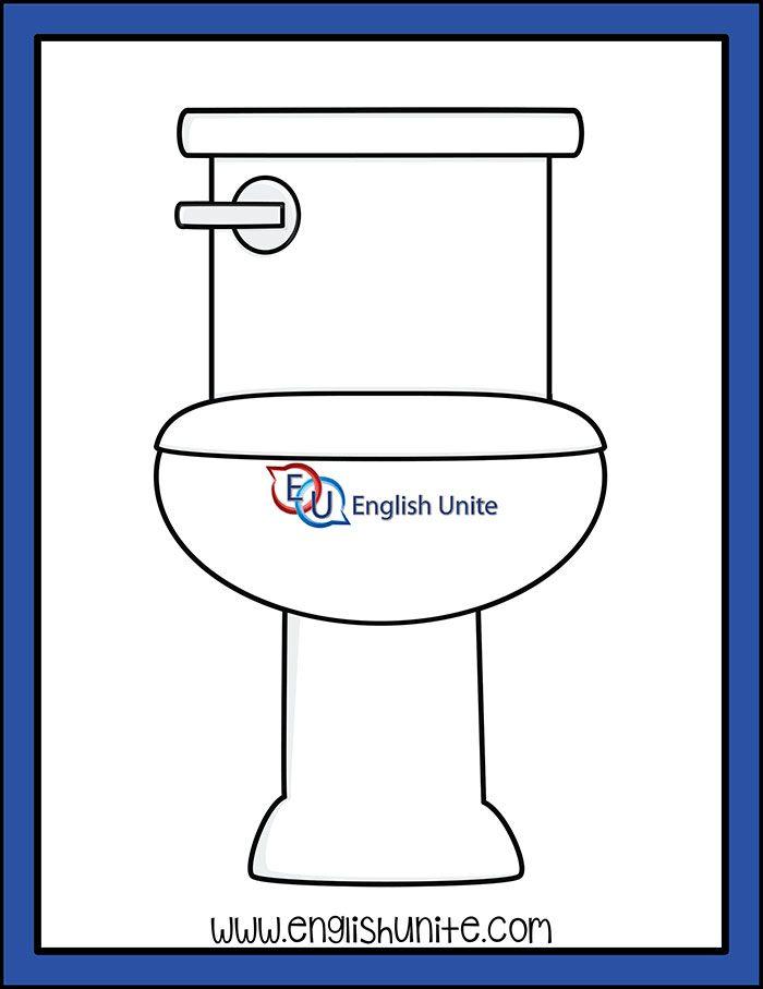 House Toilet English Unite Clip Art Kids Clipart Felt Quiet Books