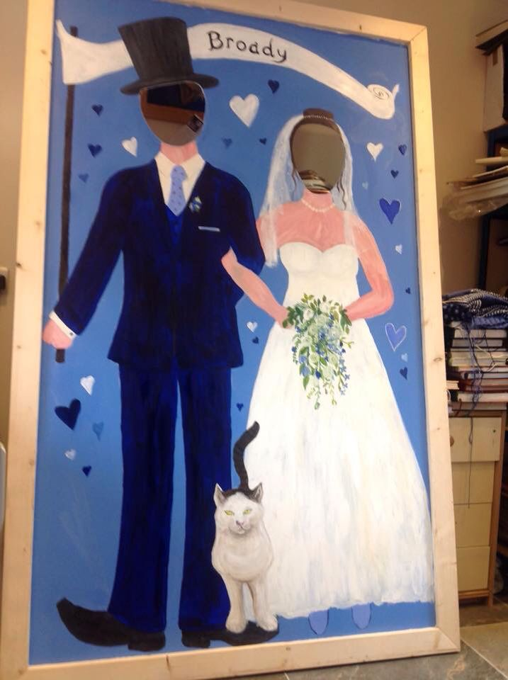 Photo cut out for my daughters wedding