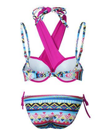 Women Sexy Cross Straps Bikini Geometric Printed Ethnic Style Swimwear Sets at Banggood