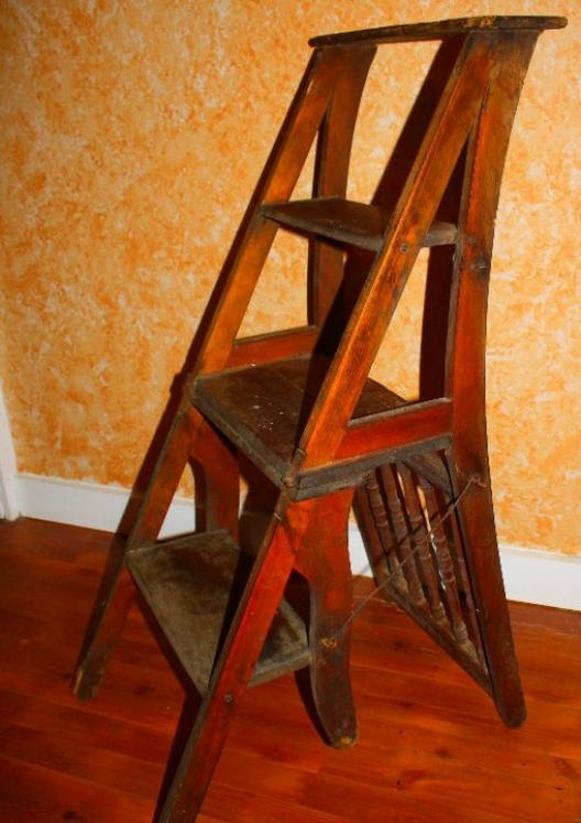 I Love The Ingenuity Of This Ladder Chair And Think It Would Be Perfect For  A. Antique AppraisalAntique ChairsAntique FurnitureLibrary ...
